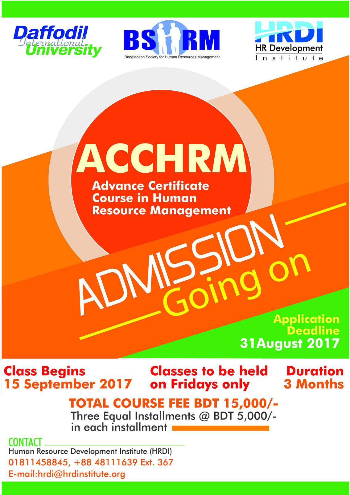 Bshrm bangladesh society for human resources management advance certificate course in human resources management acchrm 1betcityfo Images